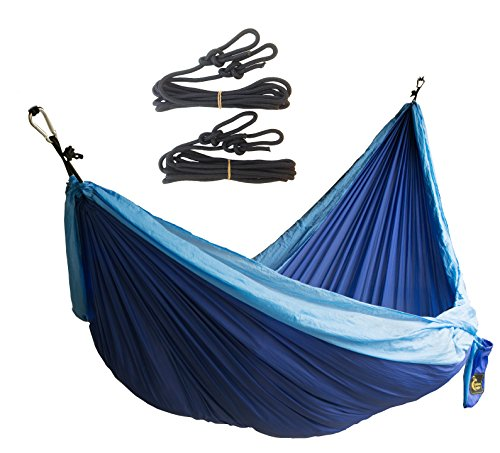 Camping Double Hammock. SWISS Design. Portable for Travel, Yard, Beach