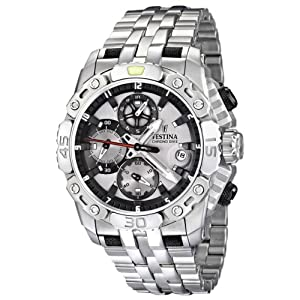 Festina Men's F16542/1 Silver Stainless-Steel Quartz Watch with Grey Dial