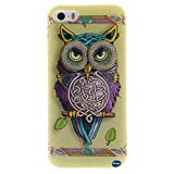 iPhone 5 ,iPhone 5S TPU ,Nancy's Shop **New** Fashion Pattern Design [Ultra Slim] [Perfect Fit] [Scratch Resistant] Premium TPU Gel Rubber Soft Skin Silicone Protective Cover iPhone 5/5S(NOT iPhone 5C) (Single owl pattern)