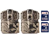 (2) MOULTRIE Game Spy A-7i No Glow Invisible 7MP Trail Cameras + (2) SD Cards