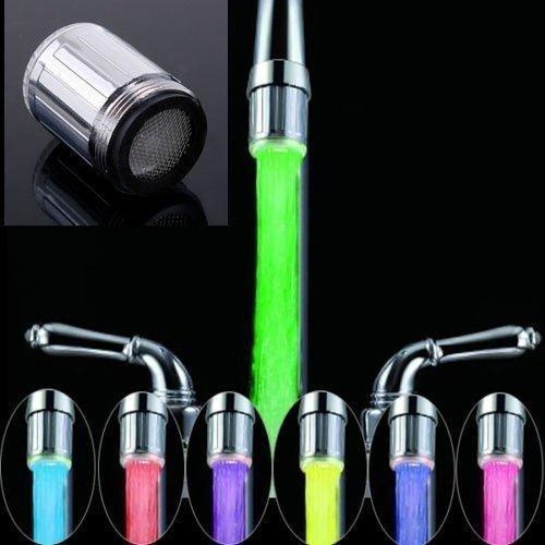 Find Discount Soledi S-35722 LED Water Faucet, Multi-color