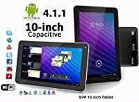 "SVP® 10"" Android 4.1 Capacitive Touchscreen Tablet (Features Google Play Store, Skype, YouTube, Netflix, Camera, Wifi, and G-Sensor!"