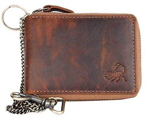natural-leather-pocket-sized-pure-leather-wallet-with-scorpion-with-metal-chain