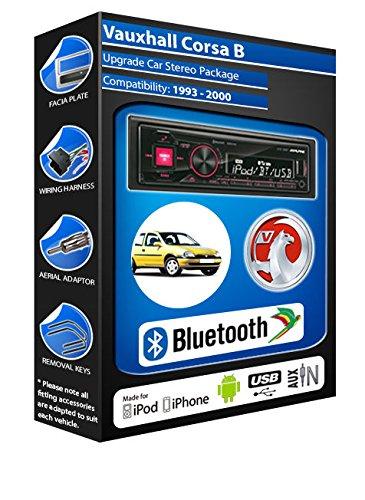 Vauxhall Corsa B autoradio Alpine UTE 72BT mains-libres Bluetooth pour autoradio stéréo