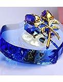ZY caja de música diseño de la flor del corazón de cristal rosa , purple