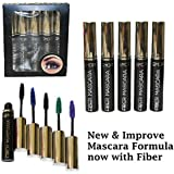 5 Color Set of Length Volume Fiber Mascara Doll Eye Style (Black, Blue, Green, Purple, Brown)