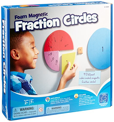 Educational-Insights-Foam-Magnetic-Fraction-Circles