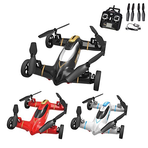 2in1-4-Kanal-RC-ferngesteuerter-Hybrid-Copter-QuadrocopterAuto-in-einem-6-axis-Gyro-3D-Drohne-Ready-to-Fly-24GHz-Modell