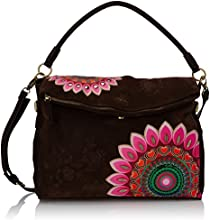 Desigual Bols Big Ibiza Emotions, Sac bandoulière - Multicolore (6044 Marron Oscuro), Taille Unique