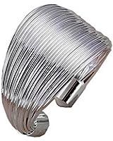 Au Marché du Luxe - Bague argent 925 fils lignes taille réglable ajustable