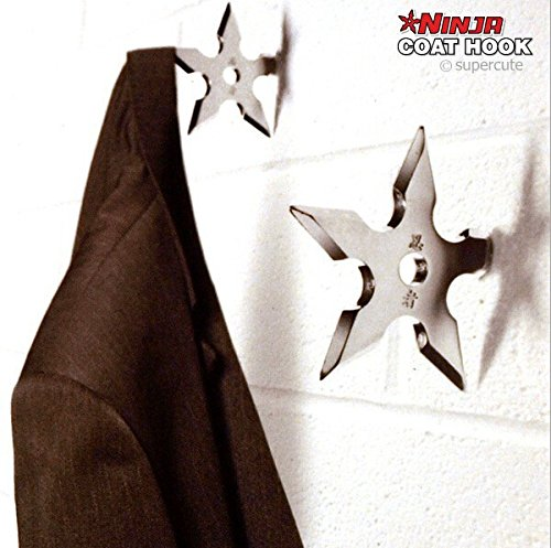 Apex Export Ninja Assassin Throwing Death Clothing Hook Style Star Coat Hang Home Decoration (2 pieces)