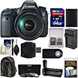 Canon EOS 6D Digital SLR Camera Body & EF 24-105mm L IS USM Lens with 64GB Card + Backpack + Battery/Charger + Grip + 3 UV/CPL/ND8 Filters Kit