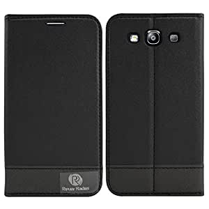 DMG PopularRaiders Premium Magnetic Wallet Flip Cover Stand Case for Samsung I9300I Galaxy S3 Neo (Black)