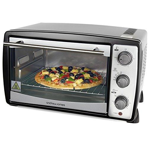 Details for Andrew James - 20 Liter Mini Ofen und Grill in Schwarz - Inklusive 5 Kochfunktionen - 1500 Watt - 2 Jahre Garantie zu Andrew James