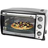 Andrew James 20 Litre Black Convection Mini Oven And Grill 1500 Watts, Includes 2 Year Warranty And 5 Different Cooking Settings