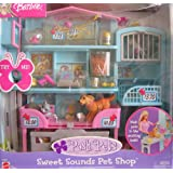 BARBIE Posh Pets SWEET SOUNDS PET SHOP Playset W PET SOUNDS! (2002)