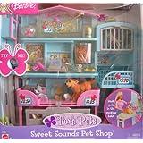 BARBIE Posh Pets SWEET SOUNDS PET SHOP Playset w PET SOUNDS! (2002)