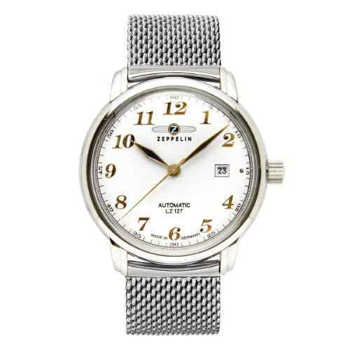 Zeppelin Men's Watch XL Analogue Automatic LZ127 Graf 7656M1 Stainless Steel