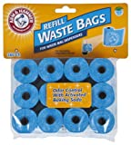 Arm & Hammer 71039 Disposable Waste Bag Refills, Blue, 180-Pack