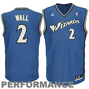 NBA Washington Wizards John Wall #2 Youth Replica Road Jersey, Red, Small
