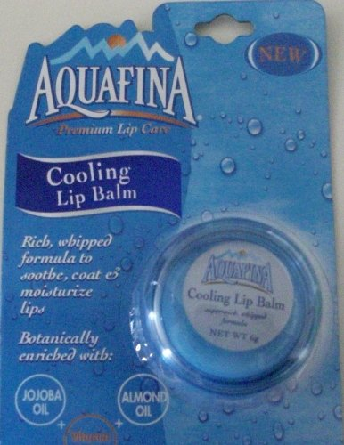 Aquafina Premium Lip Care Cooling Lip Balm Super-Rich Whipped Formula- Pack of 2