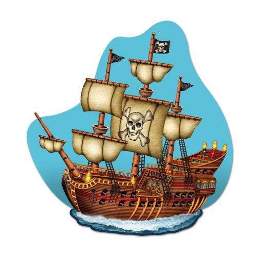 Pirate Ship Wall Plaque Party Accessory (1 count)