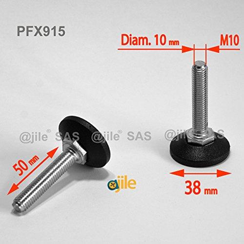 ajile-1-pieza-pie-nivelador-ajustable-con-base-redonda-rosca-diametro-10-mm-m10-largo-50-mm-acero-ga