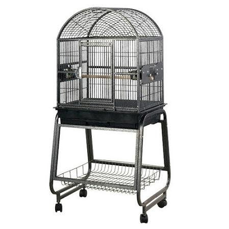 Cheap Medium Dome Top Style Bird Cage and Stand Color: Black (722217Black)