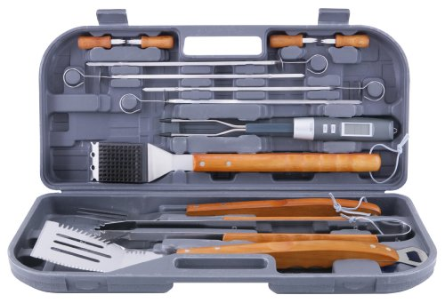 Mr Bar B Q 94122X 12-Piece Tool Set With Bonus Thermo Fork