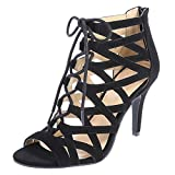Christian Siriano for Payless Women s Madness Ghillie Heel Black 12 B(M) US