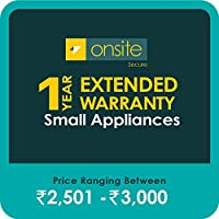 Onsite Secure 1 Year Extended Warranty for Small Appliances (Rs 2501 - 3000)