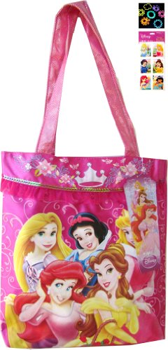disney-princess-satin-tote-bag-and-sticker-set-with-24pack-silly-band-wristbands