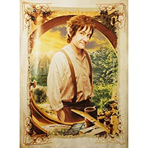 The Hobbit Fleece Lord Of The Rings bilbo baggins 120x150cm