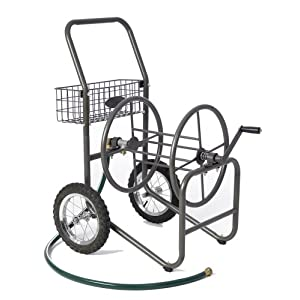 Liberty Garden Products 885-1 Residential Grade 2-Wheel Garden Hose Reel Cart with 250-Feet Hose Capacity, Bronze