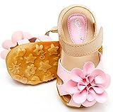 (プジョールベッテ) puyol bette 女の子 サンダル おしゃれ 花柄 キッズ シューズ (29# 17cm, ピンク)