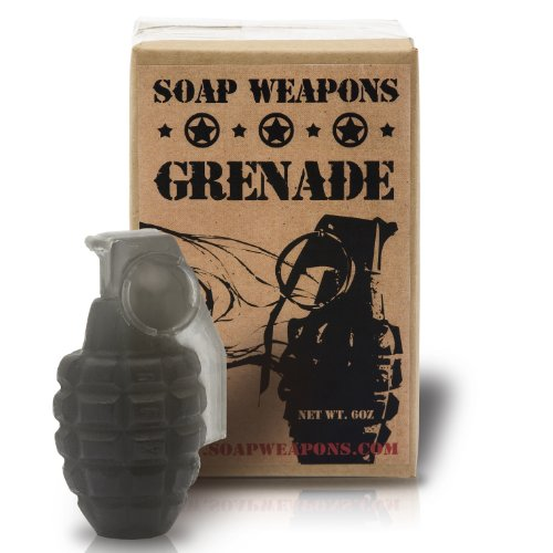 Soap Grenade - Full Size Handmade Black Soap Grenade by ChocolateWeapons