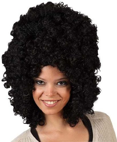 Imagen principal de Big black afro wig for adults (peluca)
