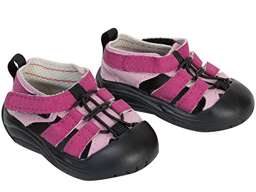 18 Inch Doll Sandal Shoes fit for American Girl Dolls, Pink Outdoor Sandal - 1