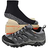 Merrell Men's Moab Waterproof Shoe with FREE Made in USA socks Bundle