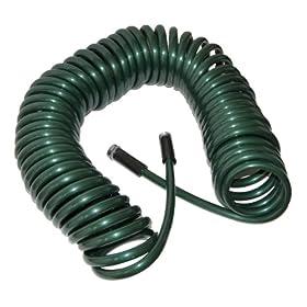 Plastair SpringHose Deluxe PUW850B94H-AMZ 50-Foot 1/2-Inch Polyurethane Coil Garden Hose - Green