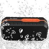 ECANDY 防水Bluetoothスピーカー ミニHIFIアウトドアワイヤレススピーカー 3.5mmオーディオTFカード入力 USBポート搭載 (X1オレンジ)