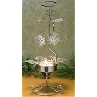Spinning Snowflakes Candle Holder Scandinavian Design