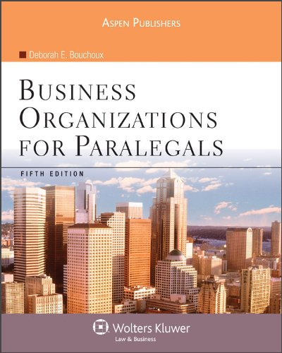 Business Organizations for Paralegals 5e