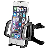 Mudder Universal Car Air Vent Mount Holder Airframe Cradle for Cellphone IPhone 4 4S 5 5S 5C 6 6 Plus, Samsung Galaxy S3 S4 S5, Galaxy Note 2 3, LG G2, Motorola Moto X Droid HTC M8 One Eye, Nexus 5, GPS Navigation (Grey)