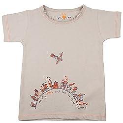 NeedyBee T-Shirt SUPERHERO Grey 100% Kids Cotton Organic T Shirt / Tee Shirt for Baby Boys and Baby Girls for 2 - 9 Years