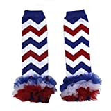 4th of July Baby Red White Blue Chevron Leg Warmers