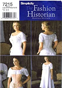 Simplicity 7215 Sewing Pattern Chemise Corset Undergarments Authentic Civil War Undergarments
