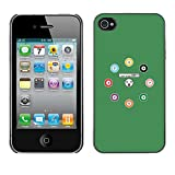 SoulCase Apple Iphone 4 4S Cute Snooker Pool Balls Cartoon Slim Black Plastic Case Cover Shell Armor