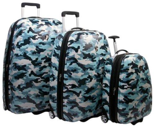 Heys Camouflage Luggage Set, Blue, One Size