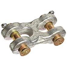 "CM M605 Carbon Steel Zinc Plated Double Clevis Mid-Link for 1/4"" - 5/16"" Chain"